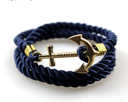 Pulseira Masculina Azul Immanuel Pronta Entrega Corda