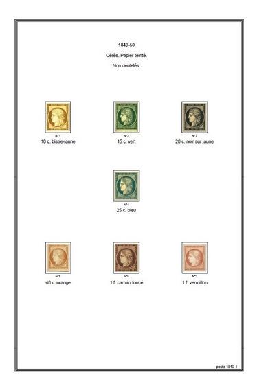 Francia - Álbum De Sellos P-imprimir Frances Color L2186