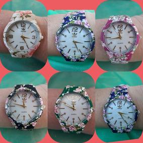 Kit C/ 10 Relógios Adids .floridos Femininos + Caixinhas .
