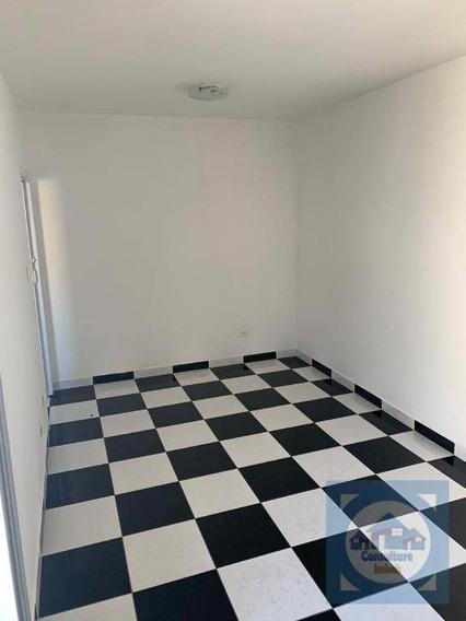 Sala Living Ampla Para Alugar, 45 M² Por R$ 1.300/mês - José Menino - Santos/sp - Kn0631