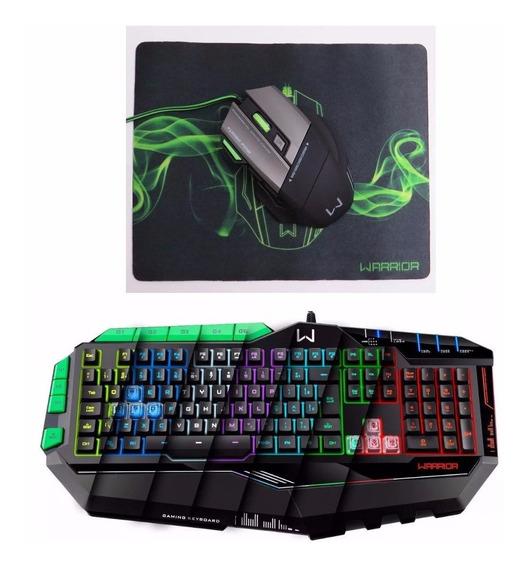 Kit Gamer Macro Multilaser Mouse Mo207 + Teclado Led Tc199