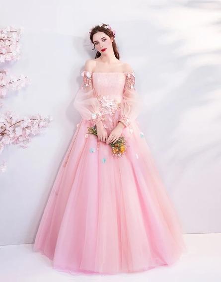 Vestido Xv Años Rosa Nueva Colección 2020