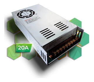 Fuente Switching 12v 20a Metalica C/ Cooler Leds Trafo