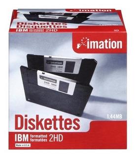 Diskettes 3.5 1.44 Mb Caja Con 10 Piezas Imation Berbatim