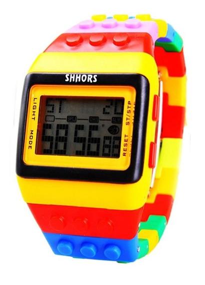 Reloj Mayoreo Niños Bloques Digital Led Deportivo Moda