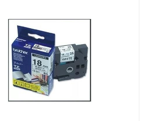 Fita Original Tape Rotulador Brother Branca 18mm Tze Fx241