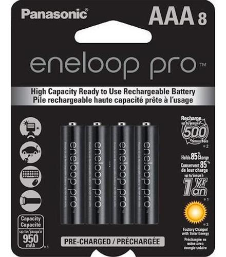 Imagen 1 de 3 de Pilas Recargables Panasonic Eneloop Pro Aaa 950mah Pack X8