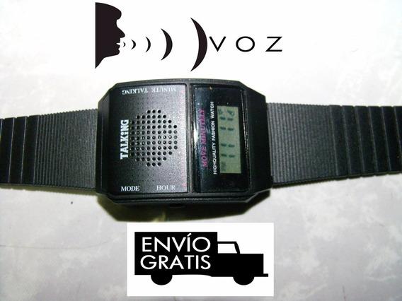 Reloj Parlante De Pulso Dice La Hr Hablando+2 Pilas C/envío