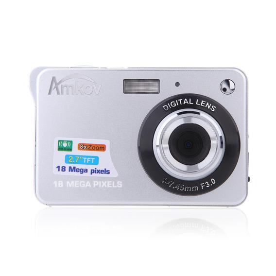 Amkov Câmera Hd Digital Câmera 18mp 2.7 Branco