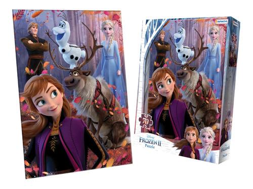 Imagen 1 de 1 de Puzzle 70 Piezas Frozen Rompecabezas Juego De Mesa
