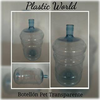Envase Plástico Botellon Pet Para Agua Potable Con Tapa