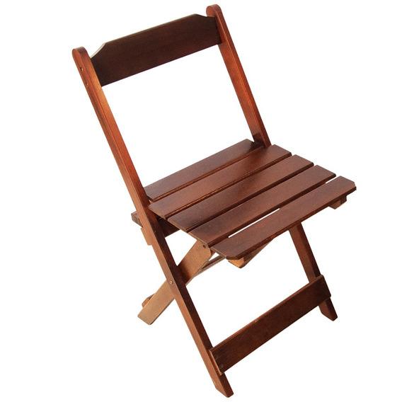 Cadeira Dobrável P/ Bar E Restaurante Madeira Maciça Preto