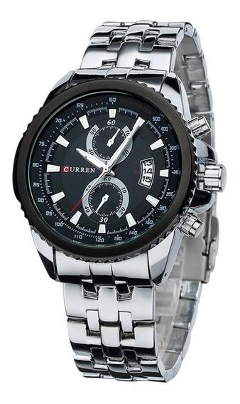 Relógio Masculino Luxo Importado Curren 8082 Original Em Aço
