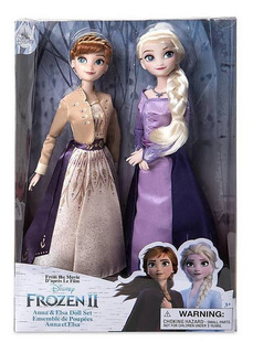Set De 2 Muñecas De Juguete Anna Y Elsa Disney Frozen 2
