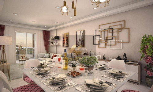 Lançamento, Apartamento Com 02 Dormitórios, Sendo 1 Suíte, 02 Vagas De Garagem, Bairro Guilhermina, Praia Grande /sp. - Ap1799