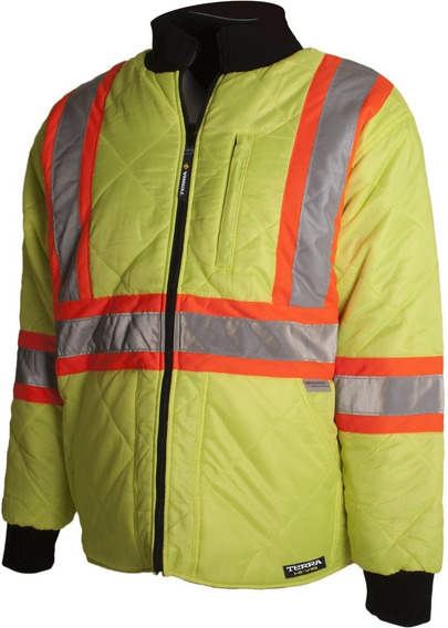Terra 116505ylm High Visibility Quilted And Lined Reflective
