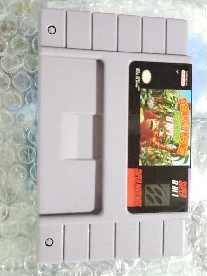 Cartucho Donkey Kong Country 8 Em 1 Snes Super Nintendo