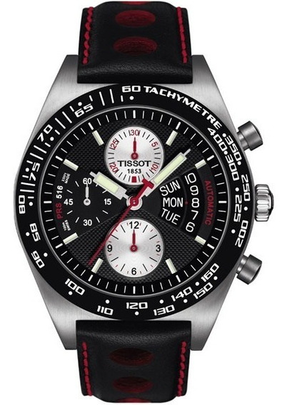 Reloj Automatico Suizo Tissot Cronos Prs516 Nuevo Negro Rojo