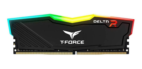 Imagem 1 de 3 de Memória RAM T-Force Delta RGB color Preto  16GB 2x8GB Team Group TF3D416G3200HC16CDC01