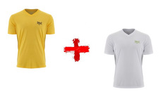 f83d6d71d1 Kit 2 Camisetas Dry Everlast Et20127 - Amarelo - Branco