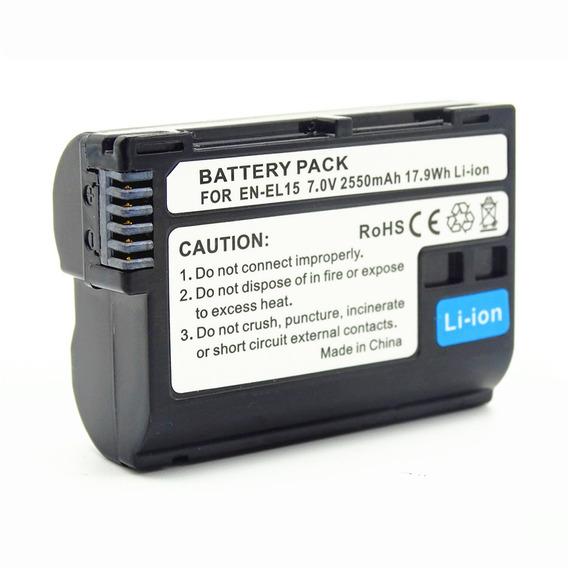 Bateria Câmera Pt -el15 2550mah Para Nikon Preto