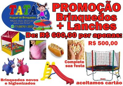 Aluguel De Brinquedos E Barraquinha De Lanches
