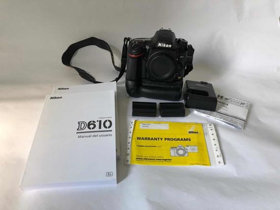 Nikon D610 *6.500 Clicks* Zerada 2x 16gb + Lowepro + Brindes