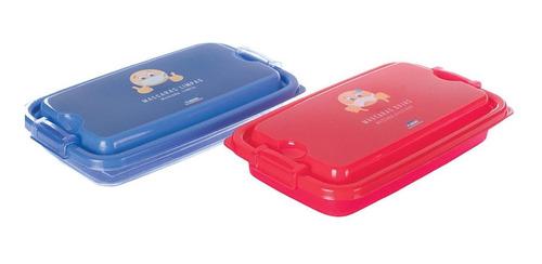 Kit Porta Mascara 02 Recipientes Portátil Prático Proteção