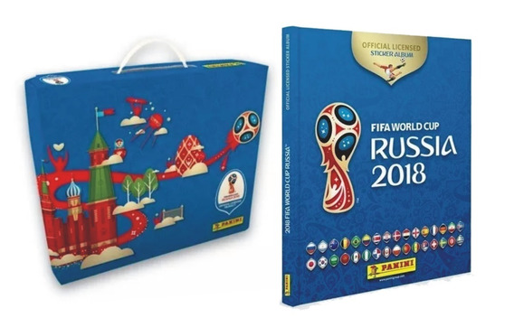 Box Álbum Copa Do Mundo Rússia 2018 Completo + 100 Fig Novas