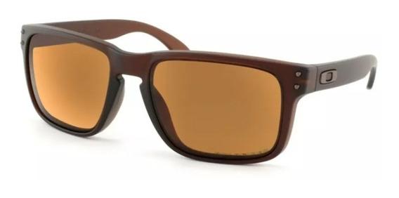 Oculos De Sol Holbrook Marrom Polarizado + Cartão Teste 12x