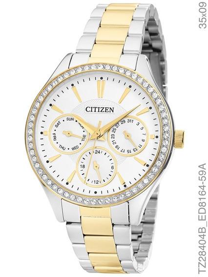 Relógio Citizen Feminino Bicolor Cristais Tz28404b