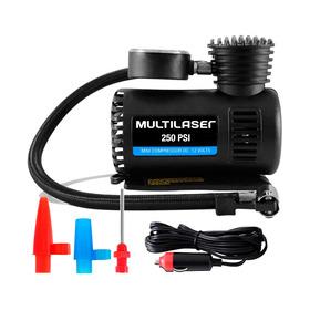 Mini Compressor De Ar Multilaser Au601 - 12v - 3 Adaptadores