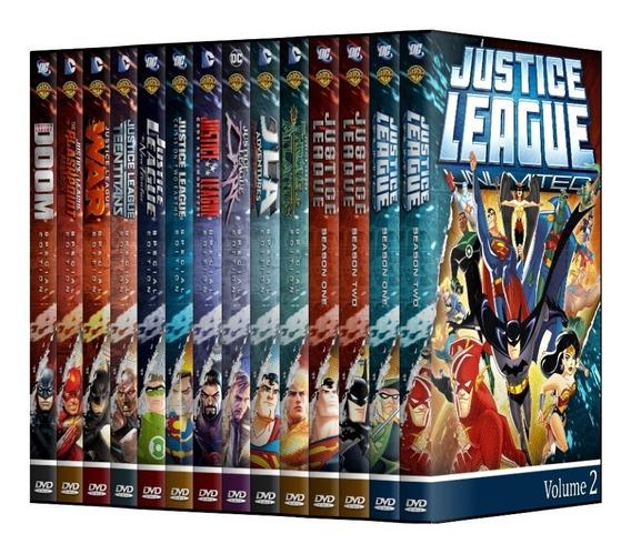 Liga Da Justiça E Sem Limites + Filmes Em Dvd [ Dublado ]