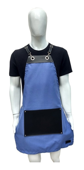 Avental Cabeleireira Feminino Jeans Couro Vintage Barbeira