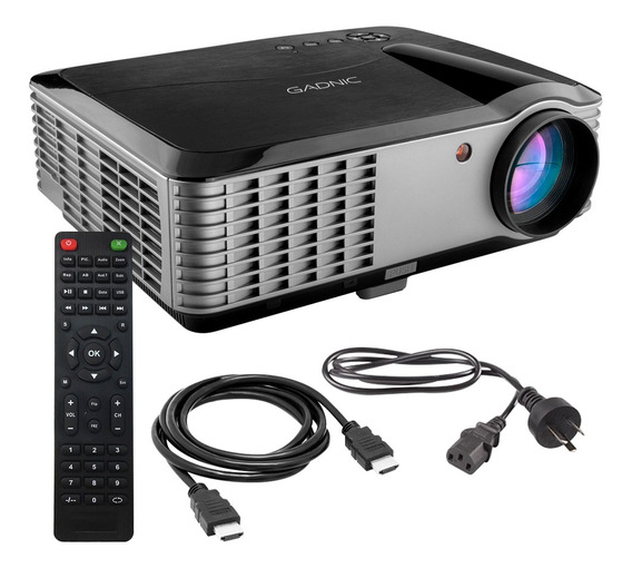 Proyector 6000 Lumens Full Hd 1080p Hdmi Notebook Usb Portable
