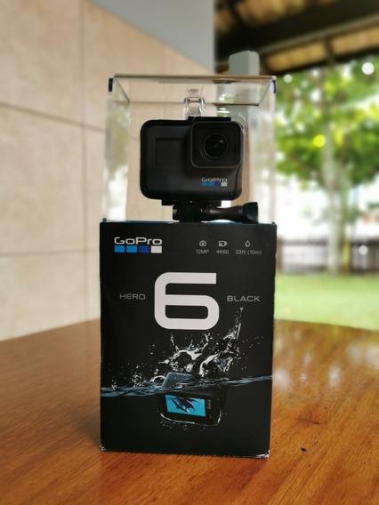 Gopro Hero 6 Black + Cartão Sd 128gb E Acessórios