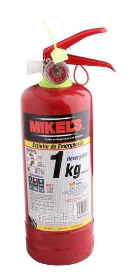 Extintor De Emergencia 1 Kg Recargable Con Soporte Mikels