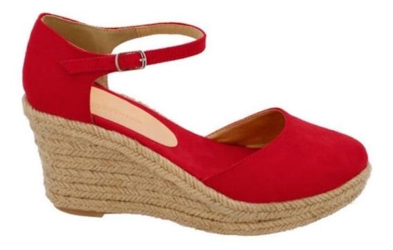 Zapato Dama Yute Alpargata Sandalia Mujer Tobillo Varios Ton
