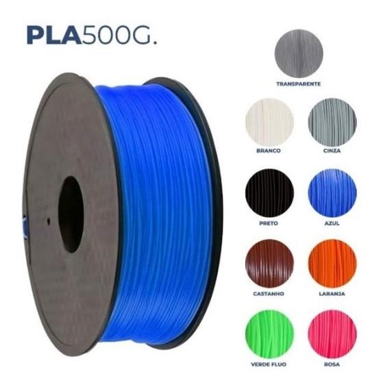 Filamento3d Pla Premium Branco R3dbrasil 1,75mm 500gr