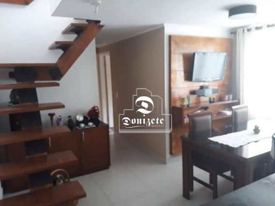 Cobertura Com 2 Dormitórios À Venda, 100 M² Por R$ 300.000,00 - Parque São Vicente - Mauá/sp - Co10794