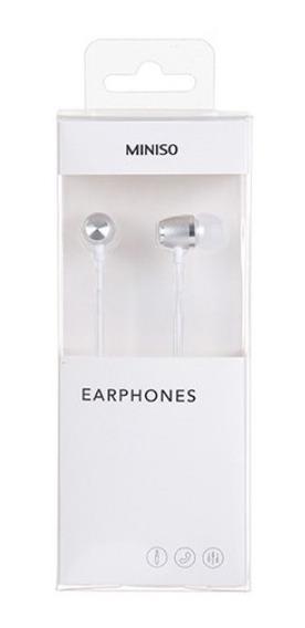 Fone De Ouvido Com Microfone Miniso - Cor Branco