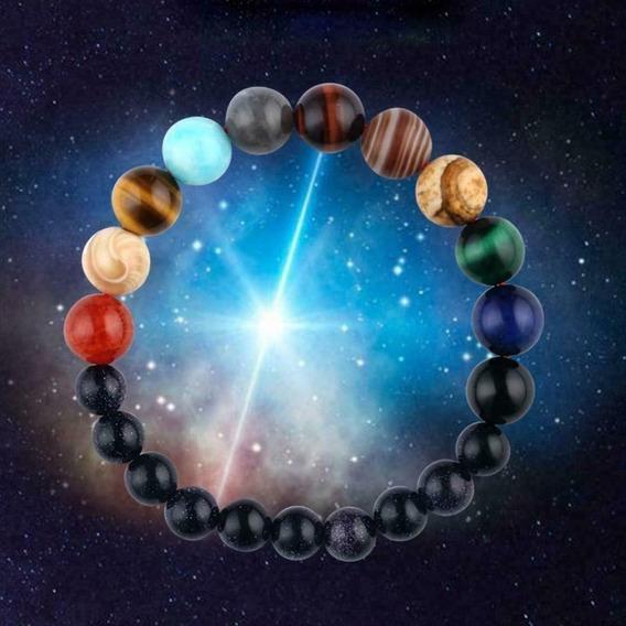 Nova Pulseira Sistema Solar 8 Planetas Galaxia + Brinde