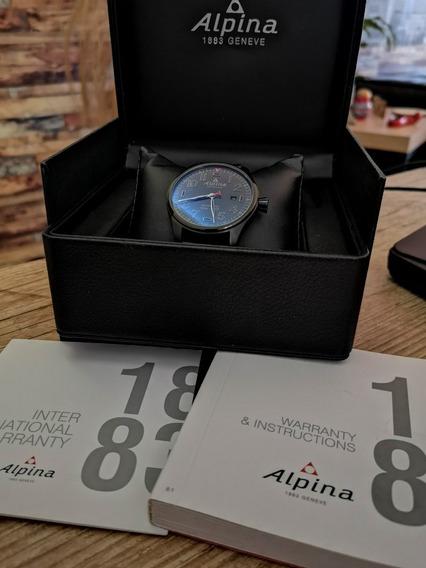 Relógio Alpina Startimer Pilot Automático Shadow Dark Blue