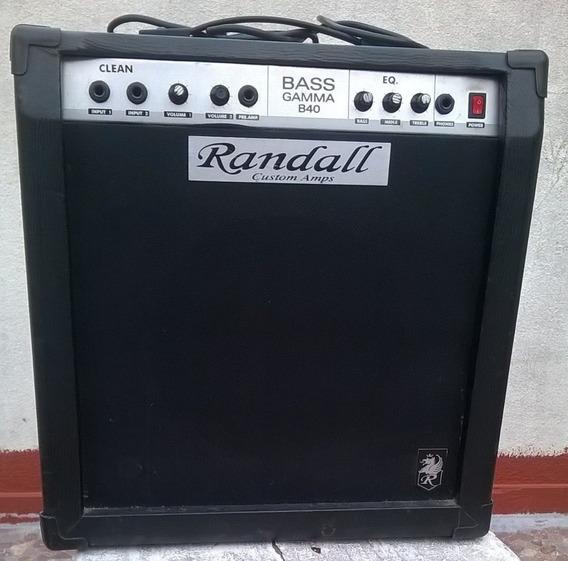 Amplificador De Bajo Randall 40 W