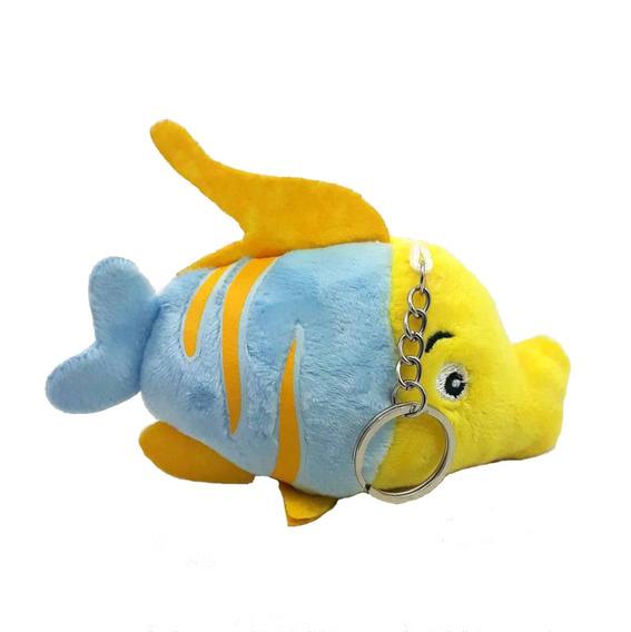 Peixe Azul Pelúcia 13 Cm Linha Decoração Mesa Festa Infantil