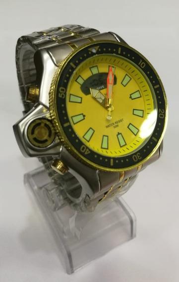 Relógio Masculino Atlantis G3220 Fundo Amarelo