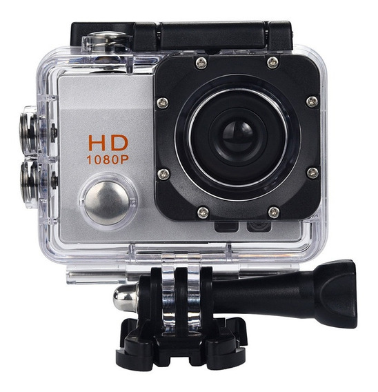 Câmera Sports Hd 1080p Carro Moto Capacete Mergulho