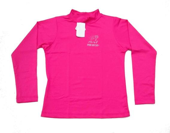 Camiseta Blusa Térmica Proteção Uv50 Infantil Tam 2 Ao 14