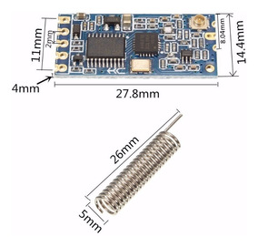 Modulo Rf 433mhz Hc-12 Hc12 Wireless Rs232 Uart Serial 1000m