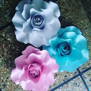 Rosas Flores De Papel Gigantes De 20 Cm